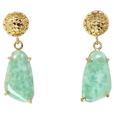 Apple Green Chrysoprase Drop Earrings