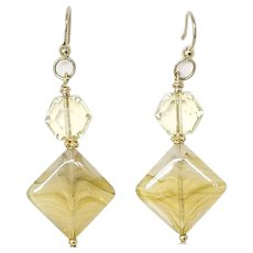 Vintage German Glass Drop Earrings