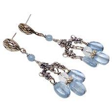 Blue Kyanite Chandelier Drop Earrings