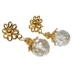 Faceted Lodalite Drop Earrings