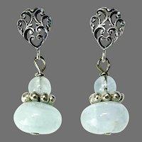 Translucent Aquamarine Drop Earrings