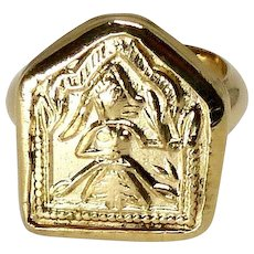 Indian Mother Goddess Amulet Ring