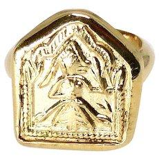 Indian Mother Goddess Amulet Ring