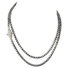 """Vintage Tulang Naga Indonesian Handmaid Silver Chain -25"""""""