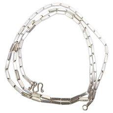 """Vintage Thai Baht Handmade Silver Chain - 27"""""""