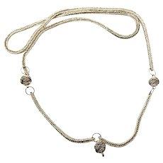 """Vintage Bali Silver Wheat Chain - 24 3/4"""""""