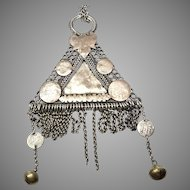Vintage Rare Indonesian Silver and Brass Pendant