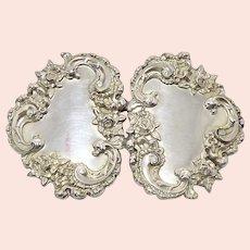 Antique Victorian Sterling Silver Belt Buckle