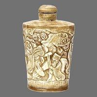 Vintage Hand Carved Bone Snuff Bottle
