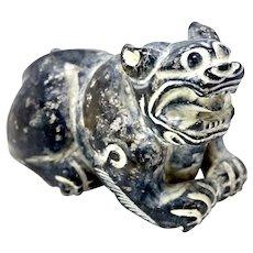 Vintage Black Jade Fo Dog Figurine