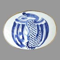 Antique Chinese Qing Dynasty Porcelain Shard Belt Buckle