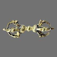 Antique Tibetan Handmade Dorje Buddhist Thunderbolt Amulet