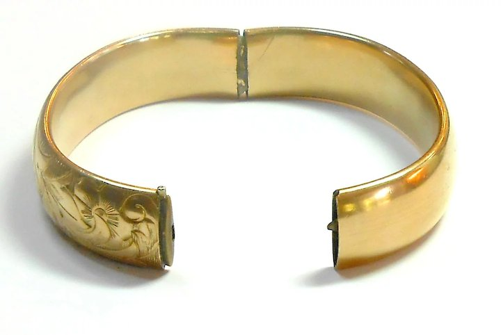 bangle fine ancient thick solid gold sale pin bracelet width borders