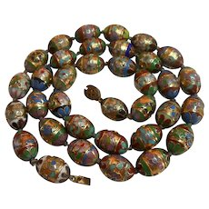 Chinese Export Hand Knotted on Silk Cloisonne Beads circa 1940