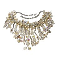 DeLizza & Elster Juliana Drippy Rhinestone, Imitation Pearl & Crystal Necklace