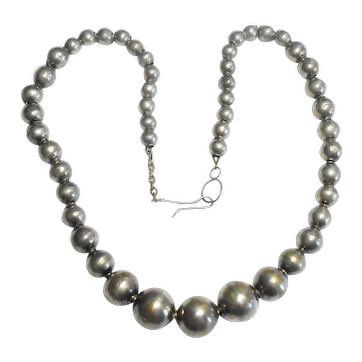 Beautiful Handmade Mexican Sterling Bead Necklace