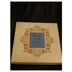 Vintage Adult Birthday Tracking My Favorite Birthday Book Hardcover Box Persian Miniatures Sayah