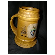 Ceramic McCoy Tankard Stein Mug USA Lion Crest, Windmill Dutch Reference