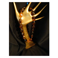 Amber Bead Vintage Necklace