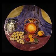 M. Valero Hand-Painted Decorative Plate