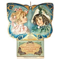 HOOD'S 1905 Sarsaparilla Calendar - Artwork by Maud Humphrey