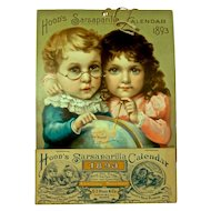 HOOD'S 1893  Sarsaparilla Calendar, 'The Young Discoverer's' - Artwork by Maud Humphrey