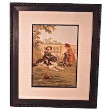 """Getty Up"" Victorian Print Signed Helen J. Maguire"