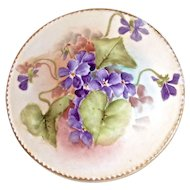 HAVILAND Violet Bouquet - Hand Painted Covered Bowl for Side Table, Dresser etc.