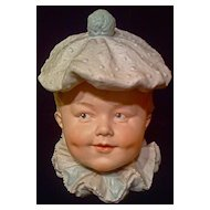 HEUBACH - Humidor Tobacco Jar - Little Boy Clown - Bisque Head