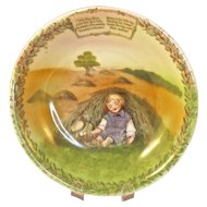 'LITTLE BOY BLUE' - Royal Bayreuth Child's Cereal Bowl