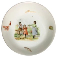 B. S. AUSTRIA Child's Cereal Bowl - Dancing  Flute Music