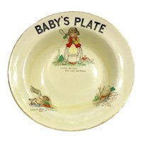 "BOVEY POTTERY CO. LTD - ""Little Bow Peep Has Lost Her Sheep""   Nursery Rhyme - Child's Cereal Bowl"