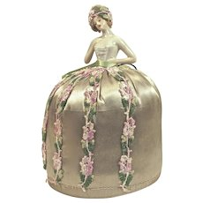 HALF DOLL Pin Cushion/Hatpin Display - With Hair - Made in Germany