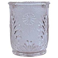 """STIPPLED DAISY' Spooner/ Celery - Pressed Glass - 1880"