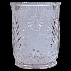 """STIPPLED DAISY' Spooner/ Celery - Pressed Glass - 1880"