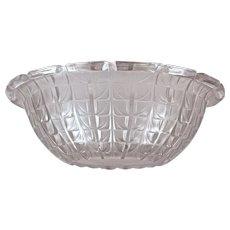 "R. LALIQUE ""ACACIAS""  No. 3 Opalescent French Bowl (Marcilhac No. 3250) 1925-1945)"