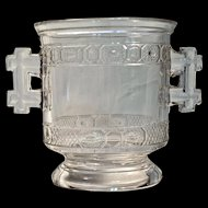 TWO BAND SPOONER/CELERY - 1890 - Pattern Glass (Probably Manganese)