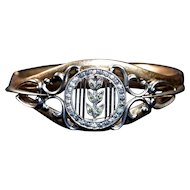 Edwardian Repousse Bangle Clamper Bracelet - Signed B&H - Tests 14K Rolled Gold (Plate)