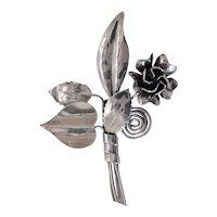 HOBE BANDORA  - Rare Retro Floral Handcrafted in Sterling