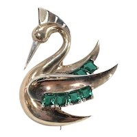 BOUCHER 1938 Swan Bird-Like Brooch/Pin
