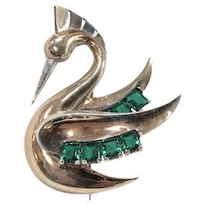 BOUCHER 1938 Swan Bird-Like Brooch/Pin