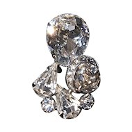 EISENBERG Rhinestone Fur Clip - Small & Elegant with Large Stones