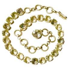 SCHIAPARELLI Paris Aurora Rhinestone Necklace - Signed