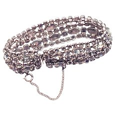KRAMER of NY - 5-Row Rhinestone Bracelet - Crystals in Rhodium