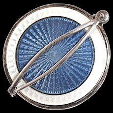 MIRROR - Sterling Guilloche Evening/Purse Mirror