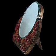 BARBOLA Tulip Hand- Painted Beveled Mirror - 1920s