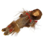 Alaskan Native Indian Seal & Beaver Doll