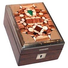 ANTIQUE FRENCH NAPOLEON III Pietro Dura Watch Stand/Holder/Box/Display Case/Casket