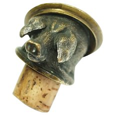 Heavy Bronze Boar Pig Sow Hog Bottle Stopper
