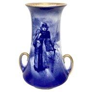 "ROYAL DOULTON - Flow Blue ""Children In the Woods"" Series Vase"